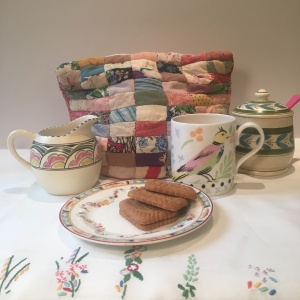 High tea with vintage patchwork cosy.